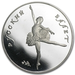 1991 1 oz Russian Palladium Ballerina (Proof)