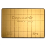 50x 1 gram Gold Degussa CombiBar (In Assay)