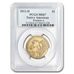 2012-D Native American Sacagawea Dollar Position A MS-67 PCGS
