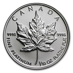 1/10 oz Canadian Platinum Maple Leaf (Random Year)