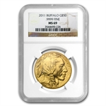 2011 1 oz Gold Buffalo MS-69 NGC