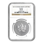 2013 1 oz Silver Canadian Maple Leaf Snake Privy SP-69 NGC