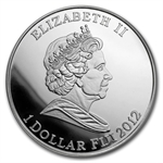 Fiji 2012 Proof Silver $1 Egyptian Queen - Nefertiti