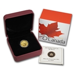 2013 1/10 oz Gold Canadian $5 - The Beaver