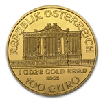 2002 1 oz Gold Austrian Philharmonic - Brilliant Uncirculated