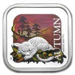2013 1 oz Proof Silver Autumn - Australian Seasons