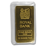 10 oz Johnson Matthey Gold Bar .9999 Fine (Royal Bank)