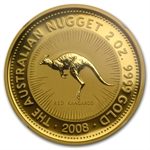 2008 2 oz Australian Gold Nugget NGC MS-64