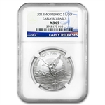 2013 1/2 oz Silver Libertad MS-69 NGC (ER) - Registry Set