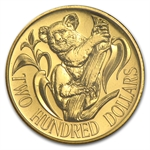 Australia 1985 200 Dollars Gold Uncirculated Coin