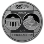 2013 1 oz Proof Silver Chinese Panda Berlin World Money Fair