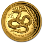 2013 Australia 1 oz Ultra High Relief Proof Gold Snake