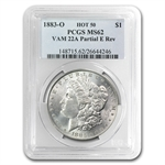1883-O Morgan Dollar MS-62 PCGS VAM-22A Partial E on Rev Hot-50