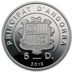 Andorra 2013 Proof Silver 3D Exotic Butterflies - Swallowtail