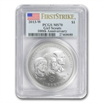 2013-W Girl Scouts $1 Silver Commemorative - MS-70 PCGS (FS)
