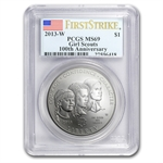 2013-W Girl Scouts $1 Silver Commemorative MS-69 PCGS (FS)