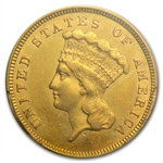 1859 $3 Gold Princess - AU-53 PCGS