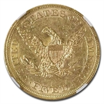 1861 $5 Liberty Gold Half Eagle - AU-55 NGC