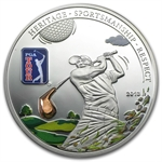 Cook Islands 2013 Proof Silver $5 PGA Tour - Golf Club