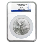 2013 5 oz Silver Mexican Libertad MS-70 NGC (ER) - Registry Set