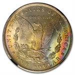 1885-O Morgan Dollar MS-63* Star NGC - Rainbow Reverse - CAC