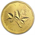 2008 1 oz Gold Canadian Maple Leaf .99999 Variety Gem BU PCGS FS