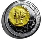 Niue 2013 Proof Fortuna Redux Mercury - First Cylinder Shape Coin