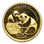 1987 (Giant 12 oz Proof) Gold Chinese Pandas - NGC PF-69