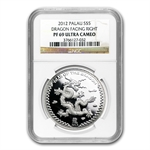 2012 Palau $5 Silver Year of the Dragon Proof NGC PF-69 UC
