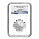 2013 1/4 oz Silver Libertad MS-70 NGC (ER) - Registry Set