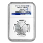 2013 1/4 oz Silver Libertad MS-69 NGC (ER) - Registry Set