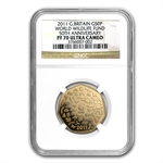 2011 Great Britain 50P Gold WWF 50th Anniv. - PF-70 UCAM NGC