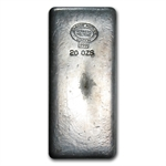 20 oz Johnson Matthey Silver Bar (Vintage / London) .999 Fine