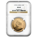 1978 1 oz Gold South African Krugerrand NGC MS-68
