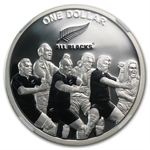 2011 1oz Silver New Zealand All Blacks The Haka NGC PF-69 UCAM