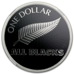 2011 1 oz Silver New Zealand All Blacks Fern NGC PF69 UCAM