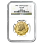 1998 Mexico 50 Pesos Gold Aguila NGC MS-67