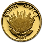 South Africa 2007 1/10 oz Gold (Proof) Protea Nobel Prize