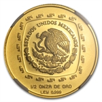 1998 Mexico 50 Pesos 1/2 oz Gold Sacerdote NGC MS-67