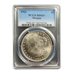 1921 Morgan Dollar - MS-65+ Plus PCGS