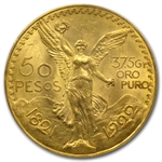 Mexico 1922 50 Peso Gold Coin PCGS MS-63