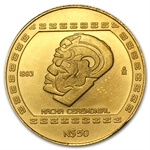 1993 Mexico 50 Pesos Gold Hacha Ceremonial
