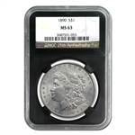 Morgan Dollar - 5 Coin Mintmark Set - MS-63 NGC Black Holders