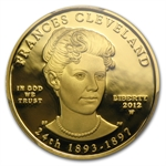 2012-W 1/2 oz Proof Frances Cleveland - 2nd Term PCGS PR-69 DCAM