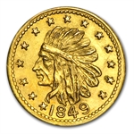 1849 Indian Round One Dollar Gold MS-62