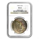 1878-1904 Morgan Dollars - MS-63 NGC - Beautifully Toned