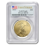 2013 1 oz Gold & Silver Eagle Set - MS-70 PCGS - First Strike