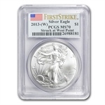 2013 Silver Eagles - MS-70 PCGS - First Strike - 3 Coin Set