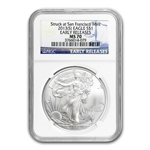 2013 Silver Eagles - MS-70 NGC - Early Releases 3 Coin Set