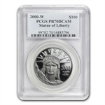 2000-W 4-Coin Platinum American Eagle PR-70 PCGS Registry Set